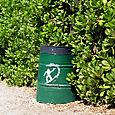 Garbage can graffiti