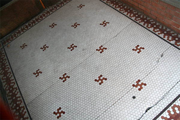 what about the plastic animals?: Tiled Entrance