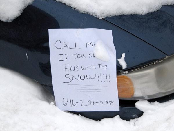 Snowvansign