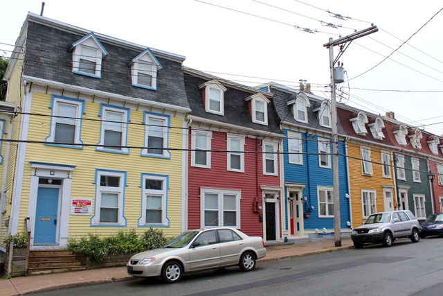 Colorful St. John's Houses
