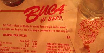 buca menu