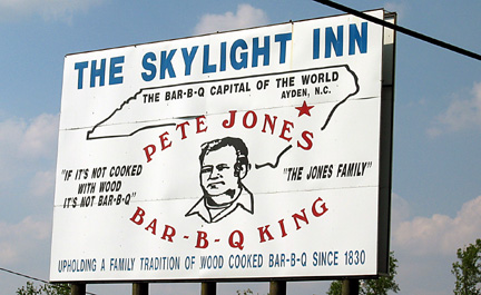Pete Jones' Skylight Inn Bar-B-Q