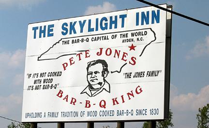 Pete Jones' Skylight Inn Bar-B-Q