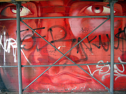 wall mural face
