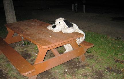 big stuffed dog