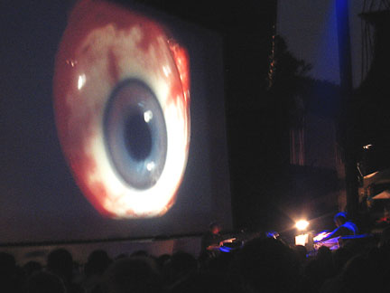 Pere Ubu and a giant eyeball