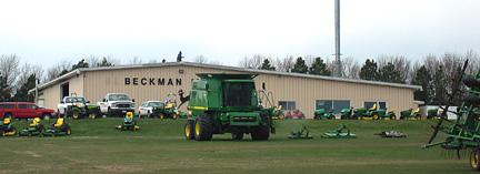 John Deere tractors and combine