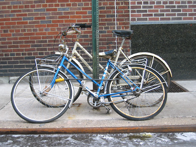 Two women's bicycles