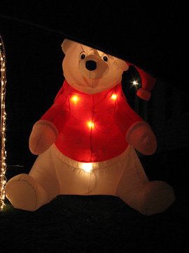 Bear with an inner glow