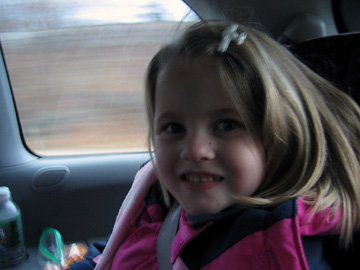 Emma on the way to the Concord Museum