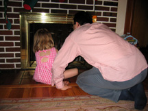 Making sure the chimney is ready for the big guy Christmas Eve