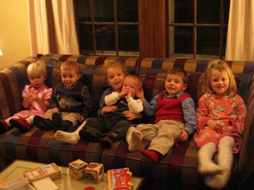 Zoe, Virgil, Olivia, Nicholas, Henry and Emma