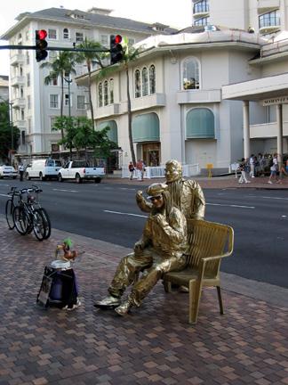 Street Performers Hanging Loose