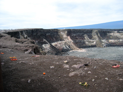 Looking inside the crater