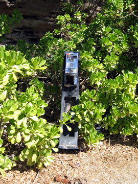 Discarded pay phone
