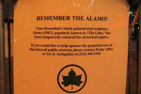 Alamo sign