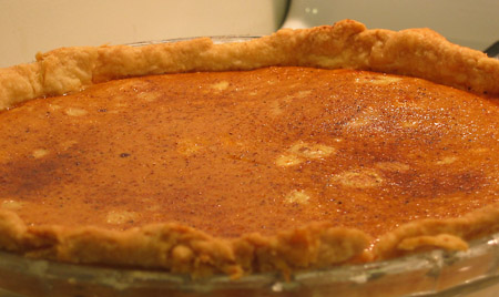 boiled cider pie fresh out of the oven