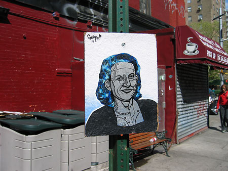 portrait of a woman in the east village