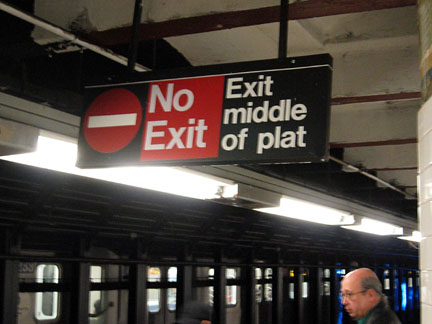 Exit middle of plat
