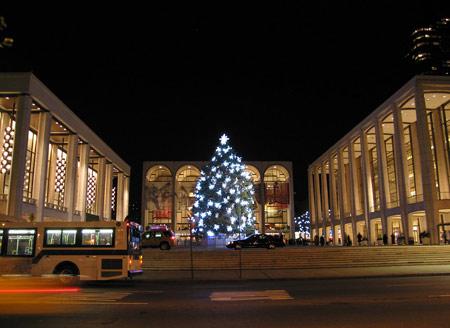 Lincoln center christmas tree