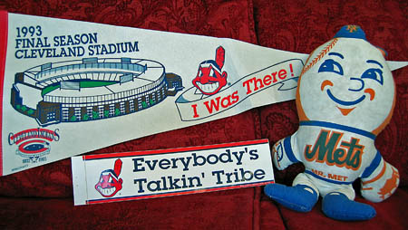 Mr. Met and the Cleveland Indians