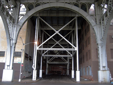 underneath riverside drive viaduct