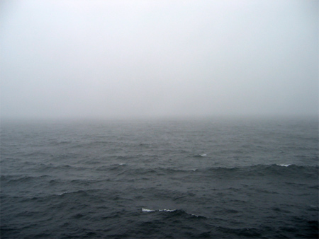 foggy sea