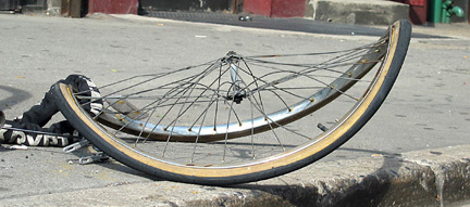 warped bike wheel
